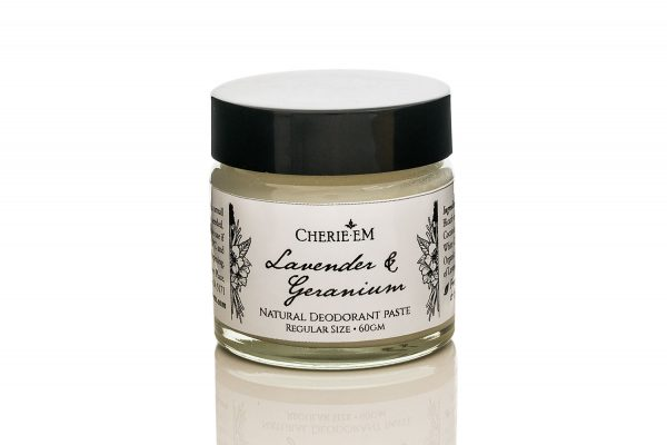 lavender and Geranium all natural, aluminium and chemical free, deodorant paste.