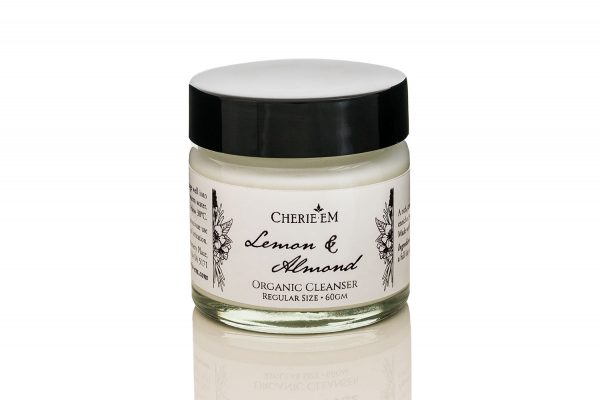 Lemon and Almond organic facial cleanser, 60gm jar.