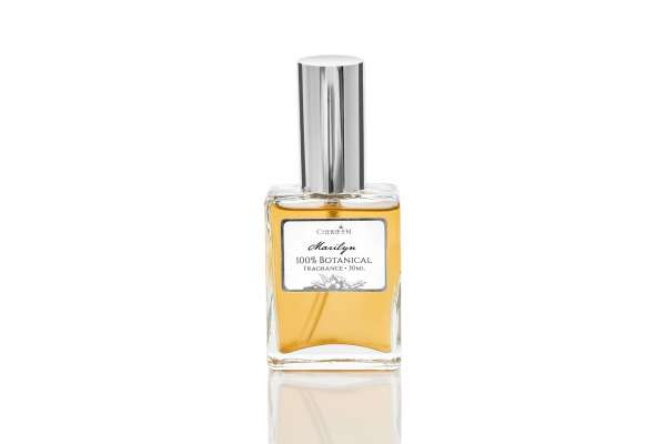 Marilyn 100% botanical perfume made with tuberose, jasmine, rose and vanilla - 30ml bottle.