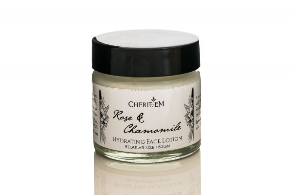 Rose and Chamomile hydrating face lotion, 60gm.