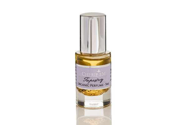 Tapestry organic roll-on perfume 5ml bottle made with Champaca, Jasmine and Ylang Ylang.
