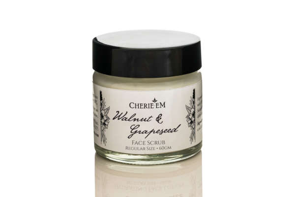 Walnut and grapeseed face scrub, sized 60gm